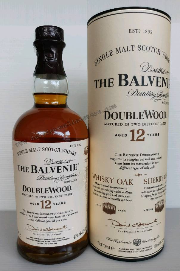 The Balvenie 12 Year Old DoubleWood 700ml.