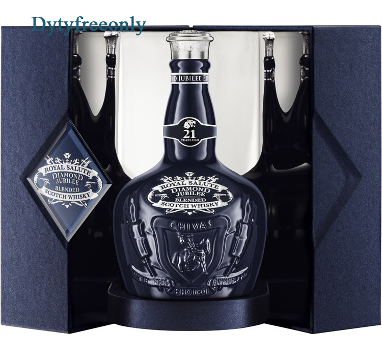 ลัง 6 ขวด Chivas Regal - Royal Salute Diamond Jubilee 21 year old 75cl.