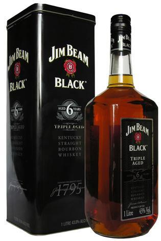 ลัง 12 ขวด Jim Beam Black 6 Year Old 1Liter