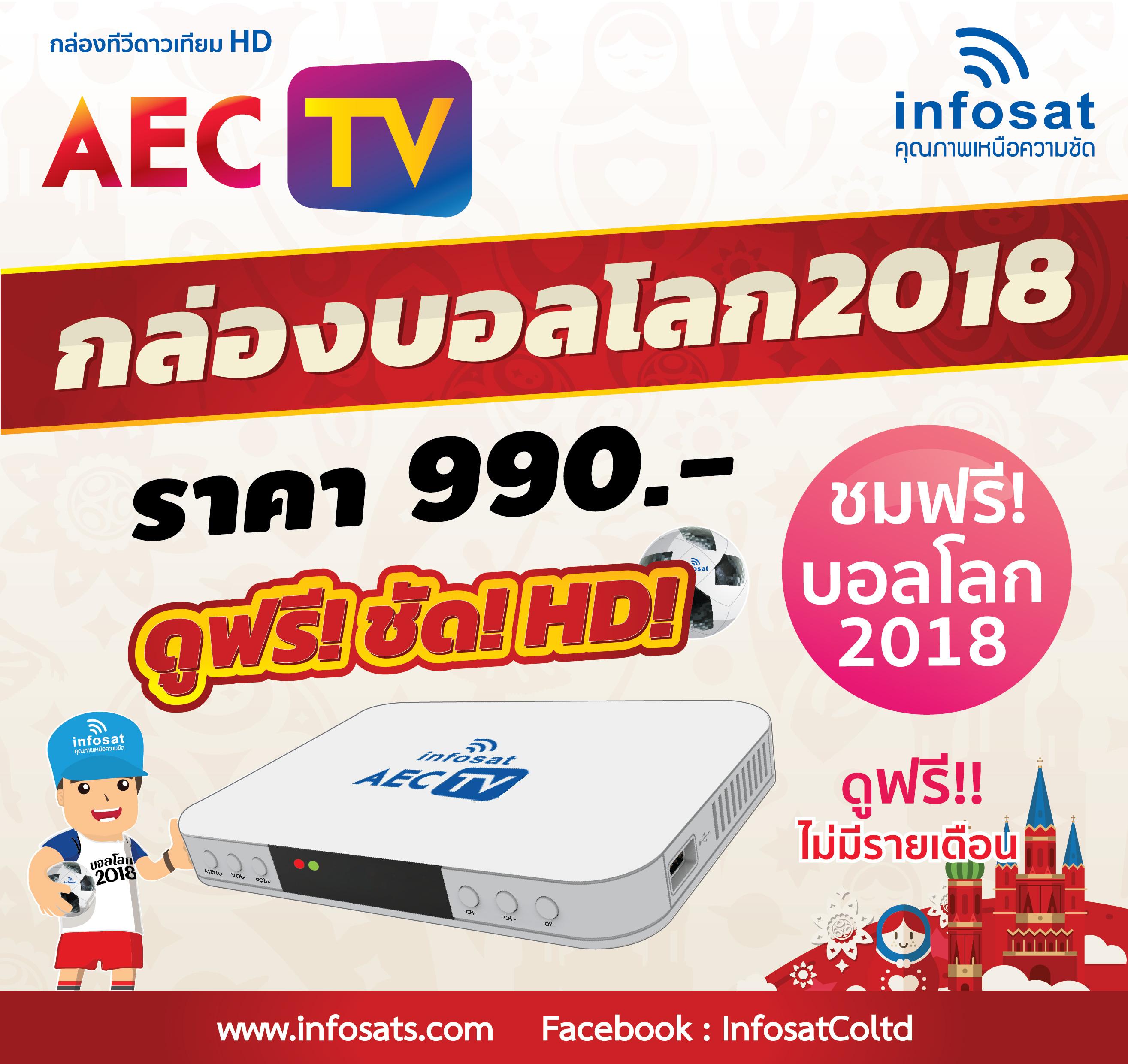 INFOSAT กล่องรับสัญญาณดาวเทียม HD รุ่น AEC TV