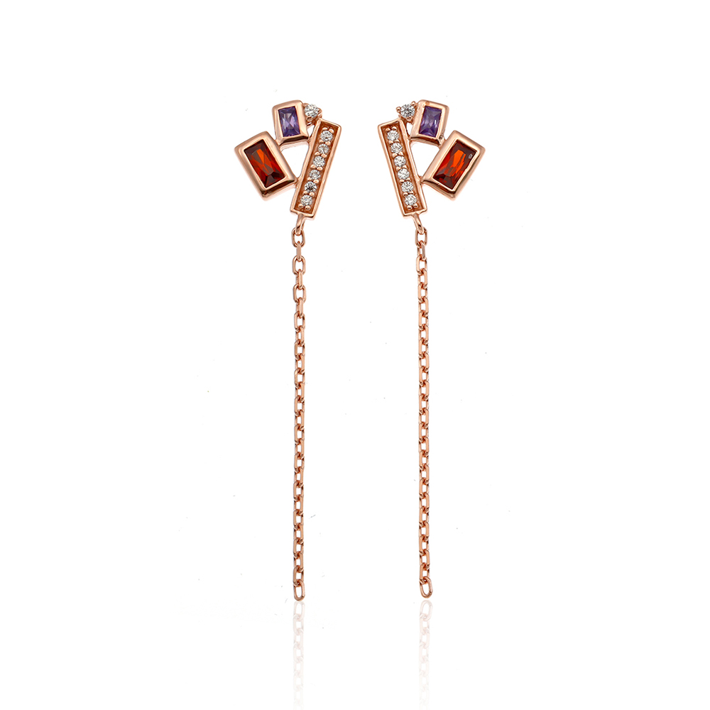 Sparklers Multi Color Earring