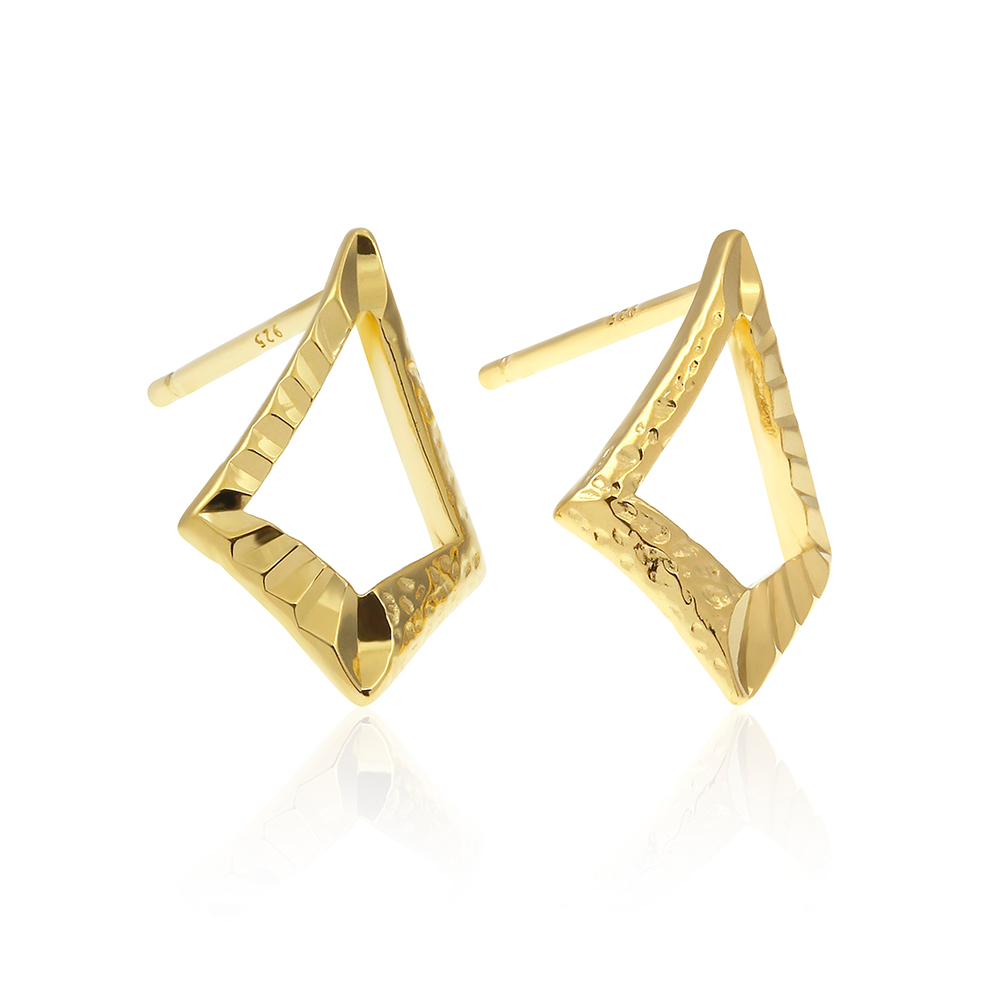Sunlight Mirror Gold Plated Earring