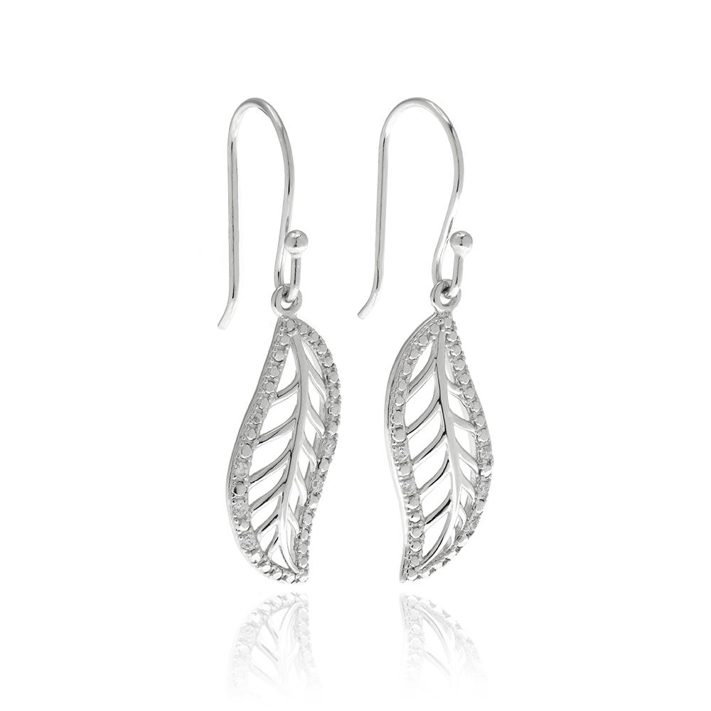 Wavy Leaf Earring