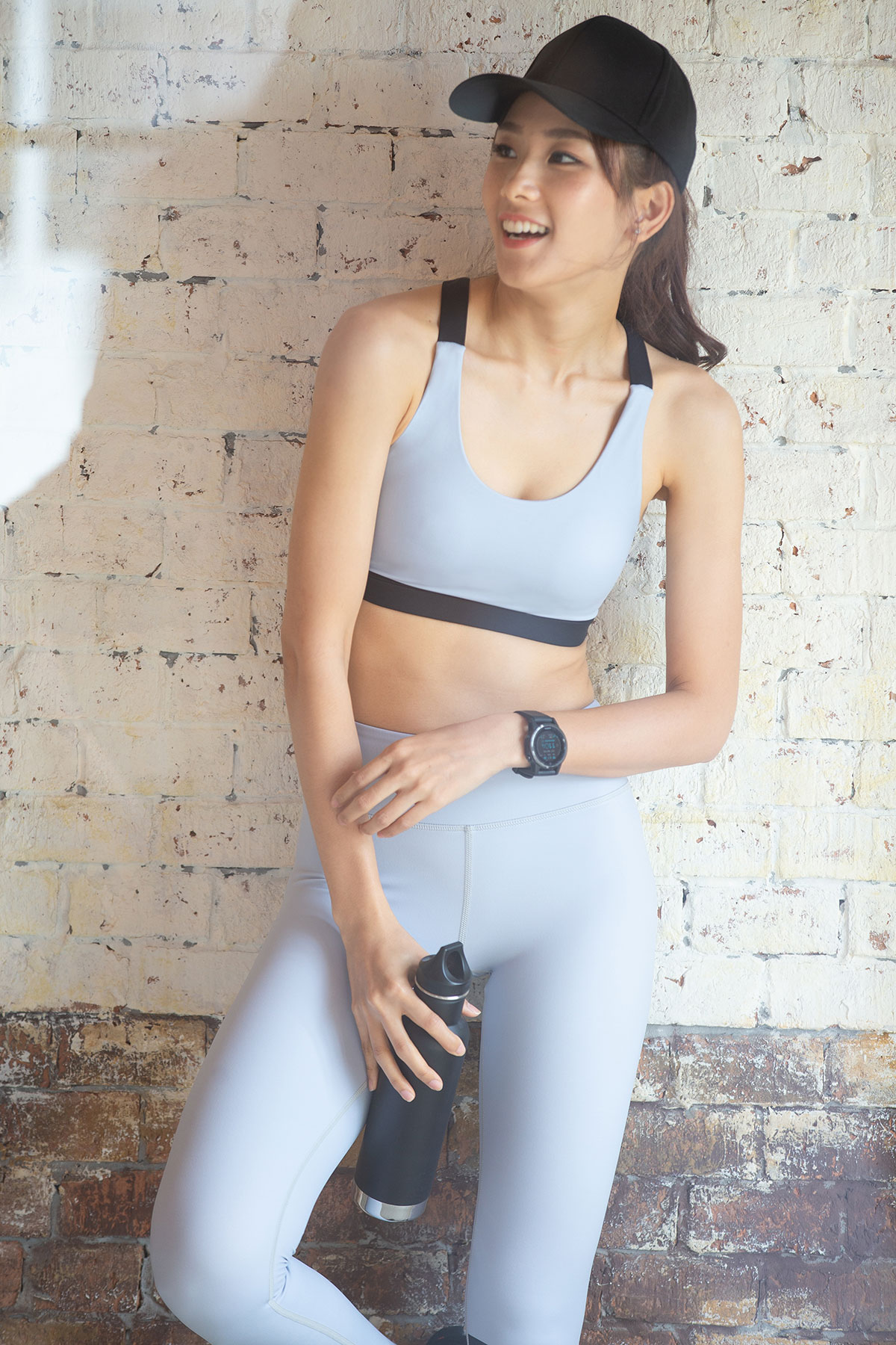 sport bra grey black