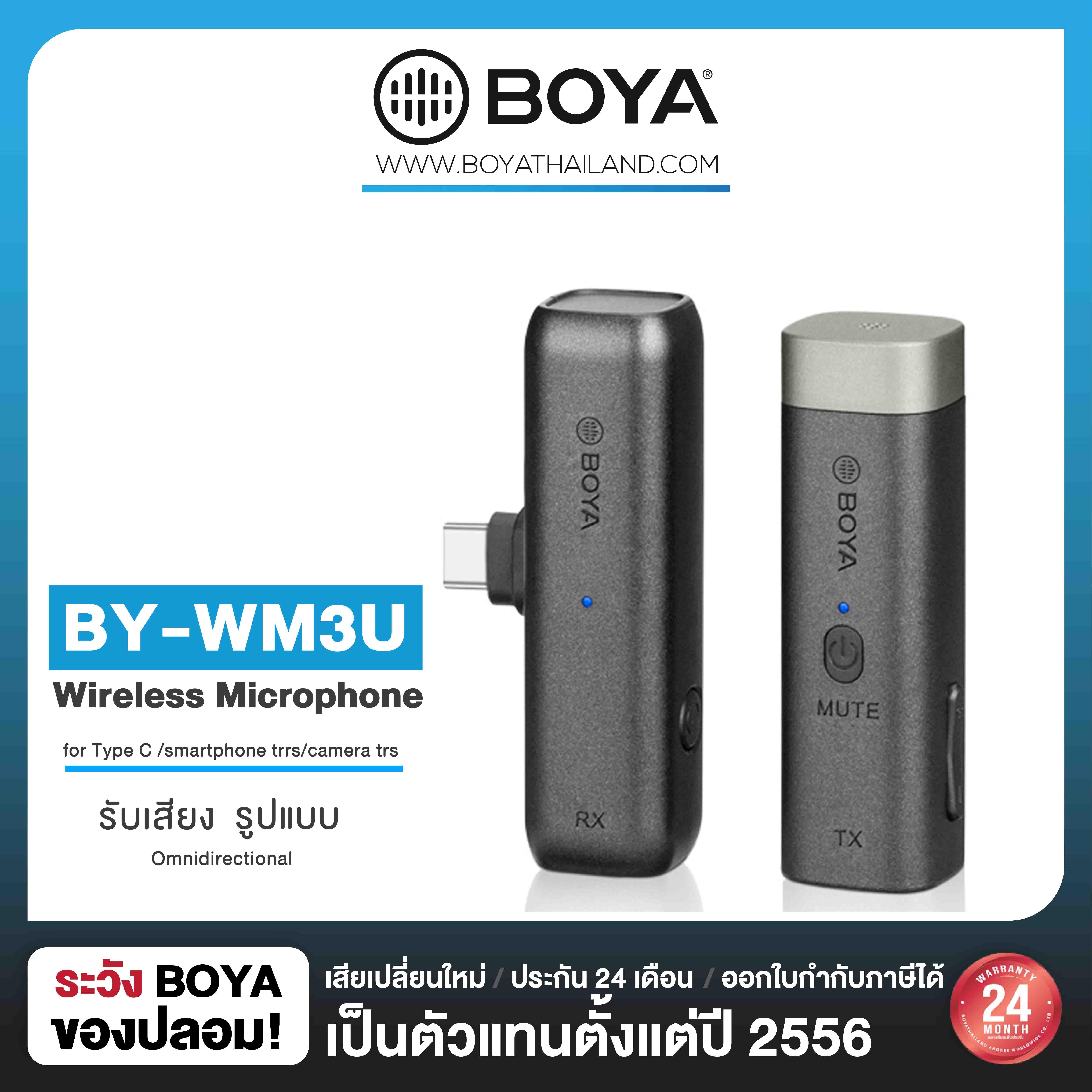 BOYA BY-WM3U 2.4GHz Wireless Microphone