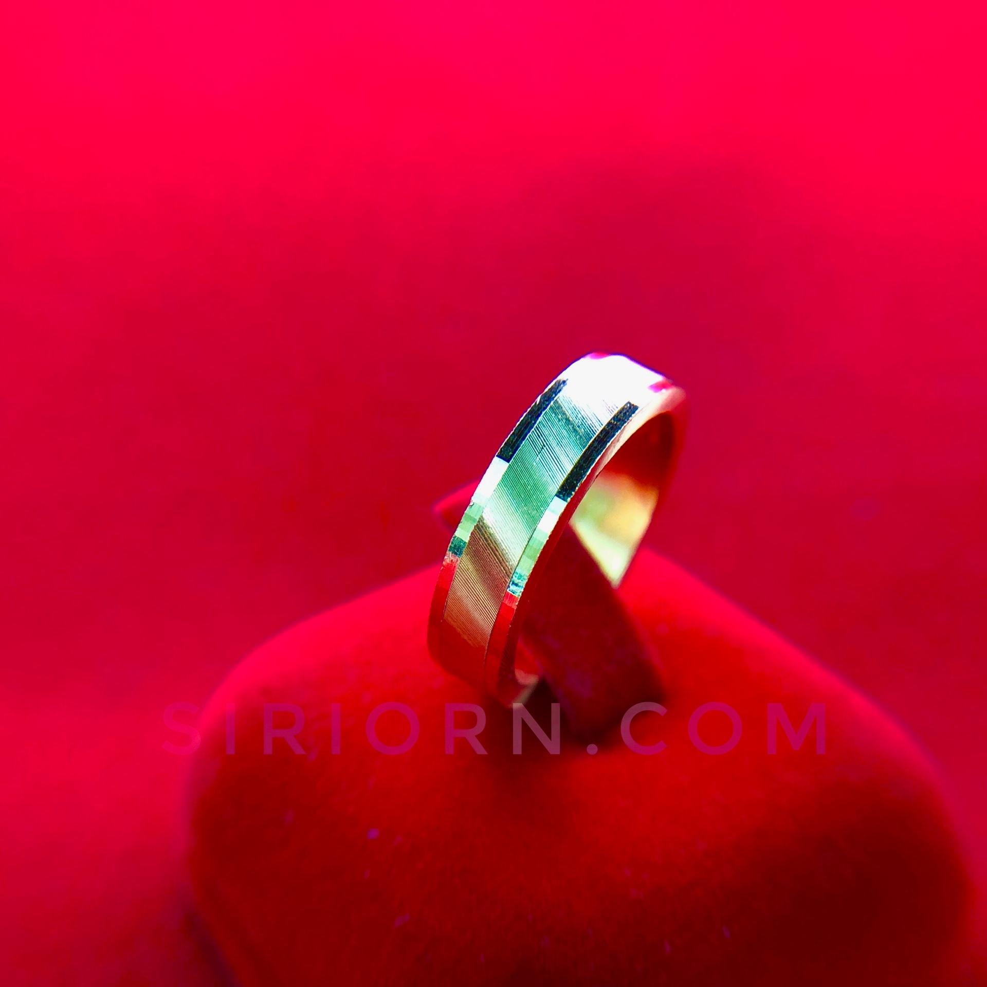 แหวนทองคำแท้ 96.5% ลายบ่อโปร่งตัดลายทองเค