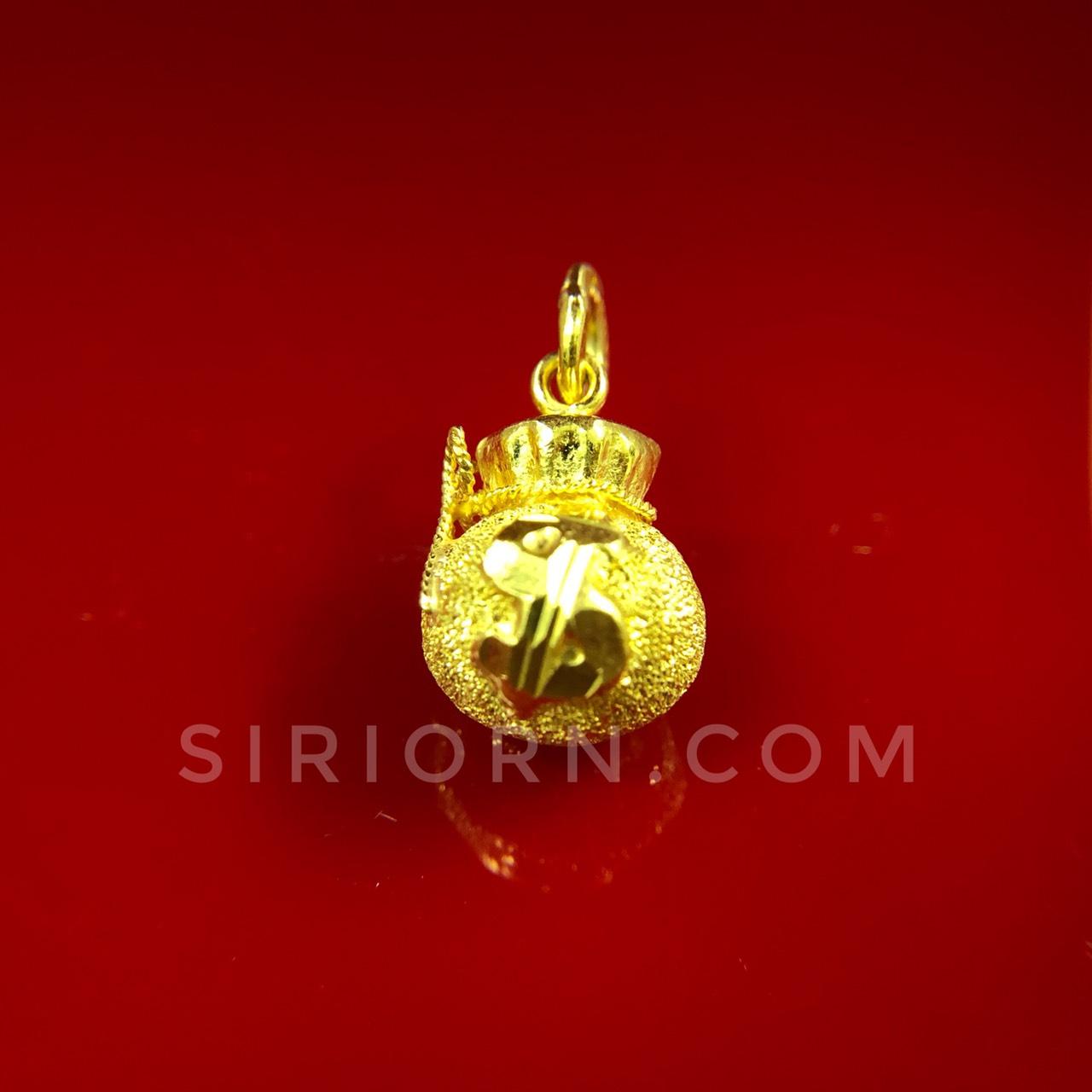 จี้ทองคำแท้ 96.5%ลายถุงทอง