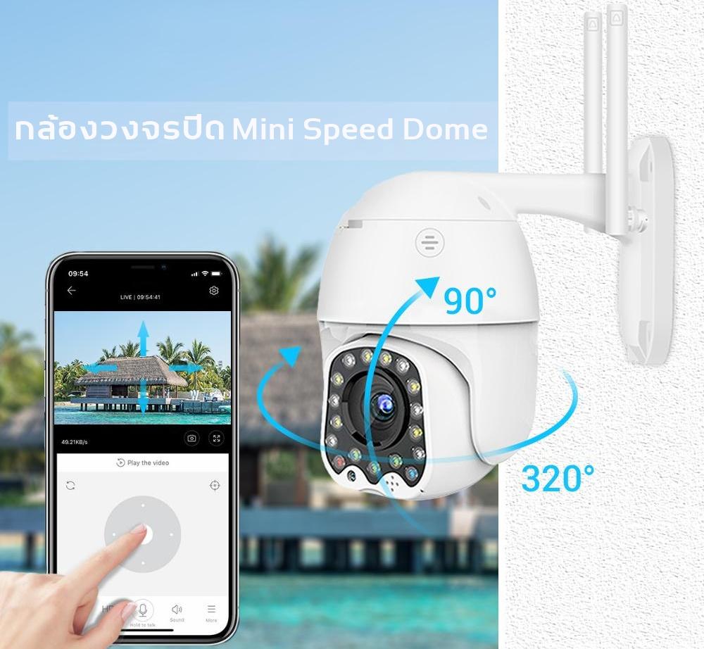 กล้องวงจรปิด Mini Speed Dome/กล้องหมุนได้ 350 องศา