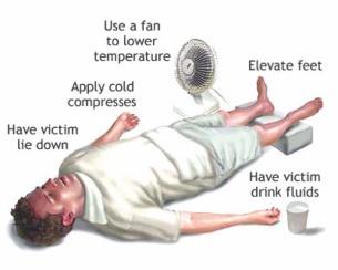 อาการเพลียแดด วิธีง่ายๆ นอนยกเท้าสูง