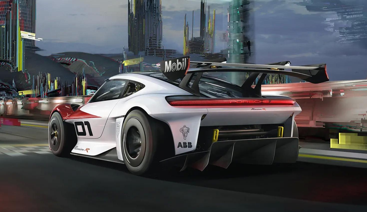 Porsche Mission R รถแข่งพลังงานไฟฟ้า อนาคตของวงการมอเตอร์สปอร์ต