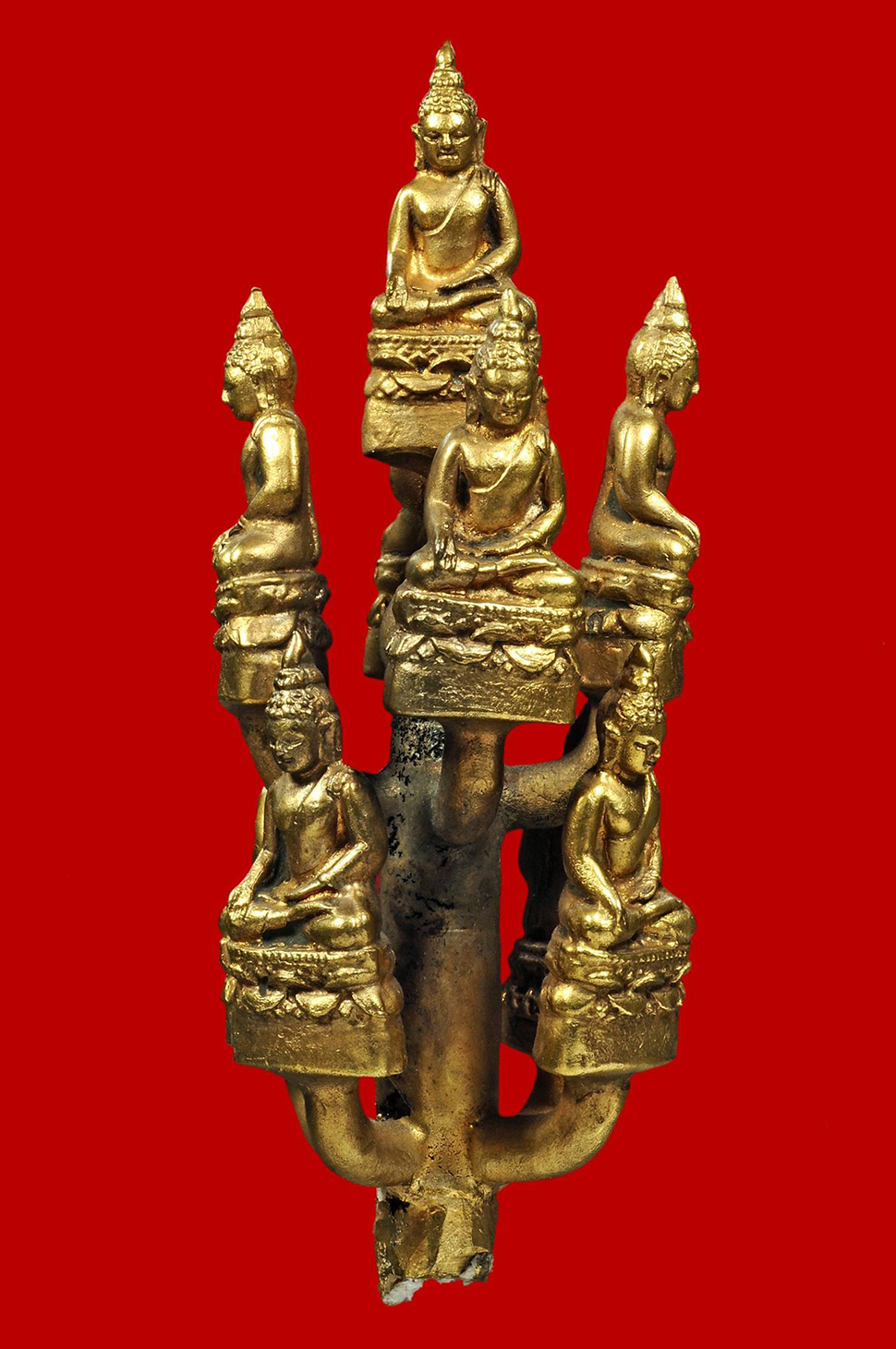 Phra Kring Paireepinas B.E. 2495 - 9 pieces / Casting Bouquet  (gold mixed)