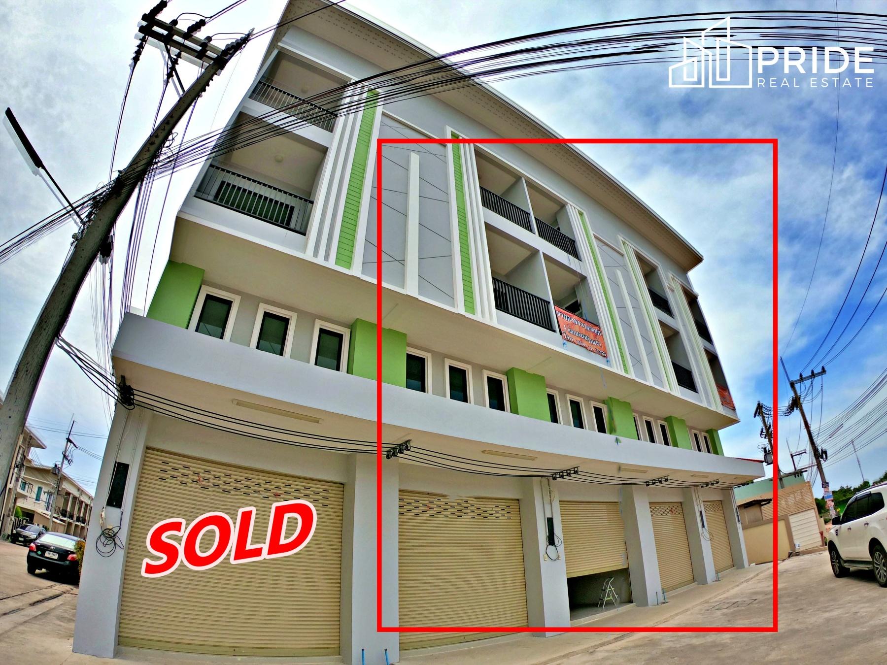 ขายอาคารพาณิชย์ 4 ชั้น (4 ยูนิตสุดท้าย) พัทยากลาง - เนินพลับหวาน  Commercial Building in Central Pattaya - Nernplubwaan