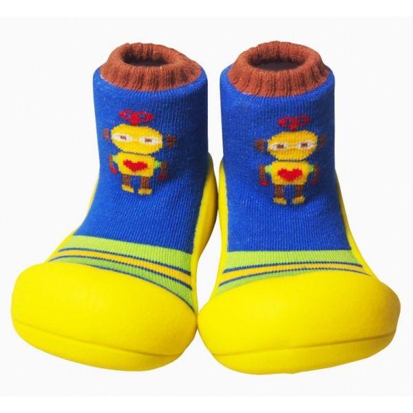 Attipas  รองเท้าหัดเดิน Robot Yellow