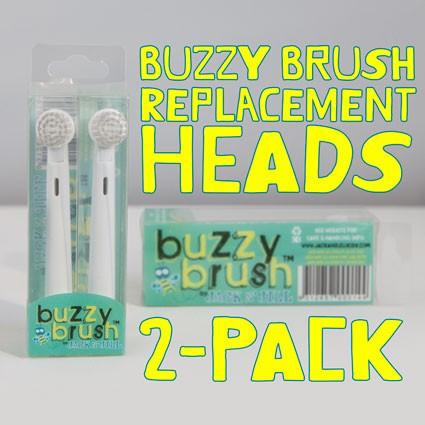 Jack N' Jill Buzzy Brush Replacement Heads (2pk)