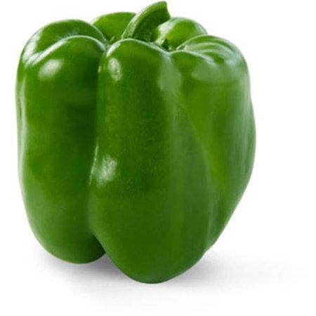 Green bell pepper พริกหวานสีเขียว