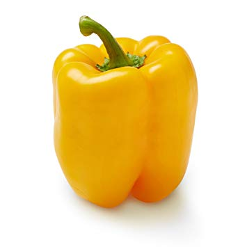 Yellow bell pepper พริกหวานสีเหลือง