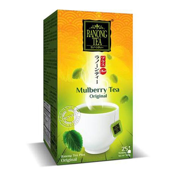 Ranong Tea Plus Original Mulberry Green Tea เรนองทีพลัสชาเขียวใบหม่อนต้นตำรับ
