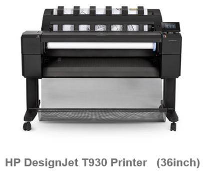 HP DesignJet T930   36in PS Printer