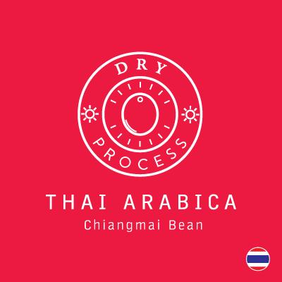 กาแฟดริป Thai Arabica - Dry Process 10g. x  5 Bags