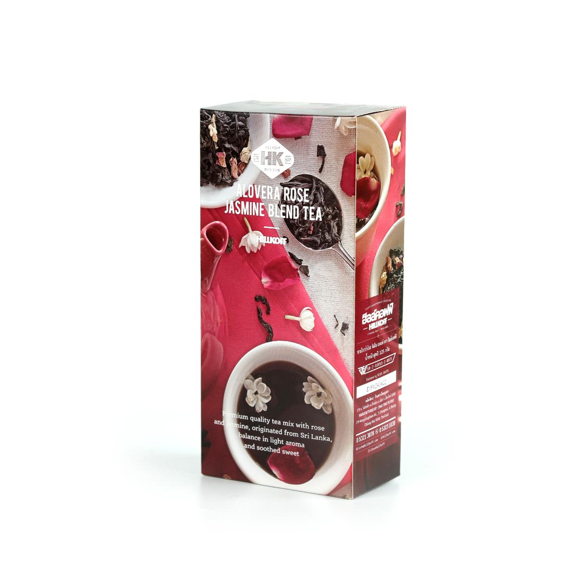 HK tea: Alovera rose jasmine Blended 125g