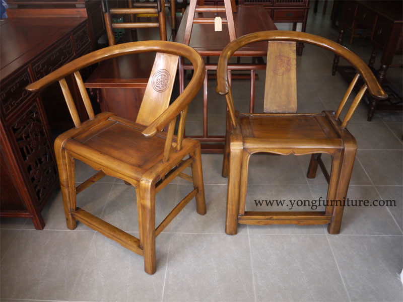 Pair of Provincial Round back Chairs