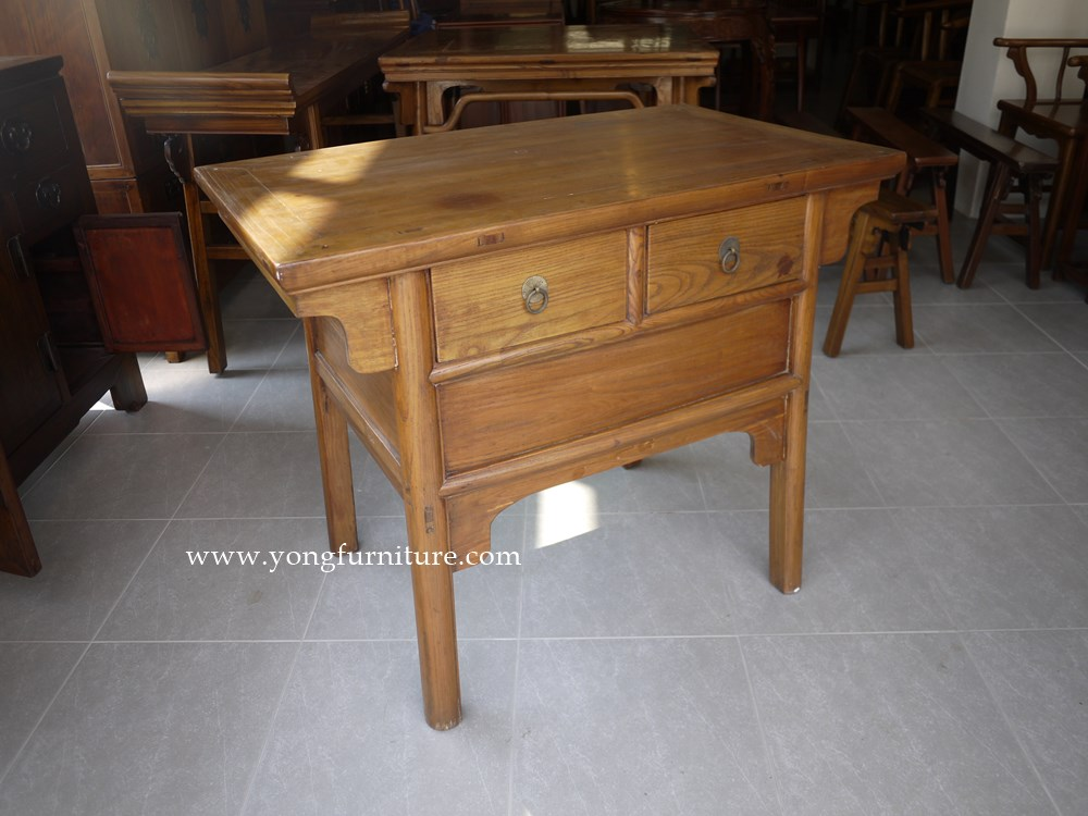 Two Drawer Traditional Chinese Console