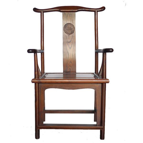 เก้าอี้จีนมีเท้าแขนทรงหมวกขุนนางแบบจีนโบราณ