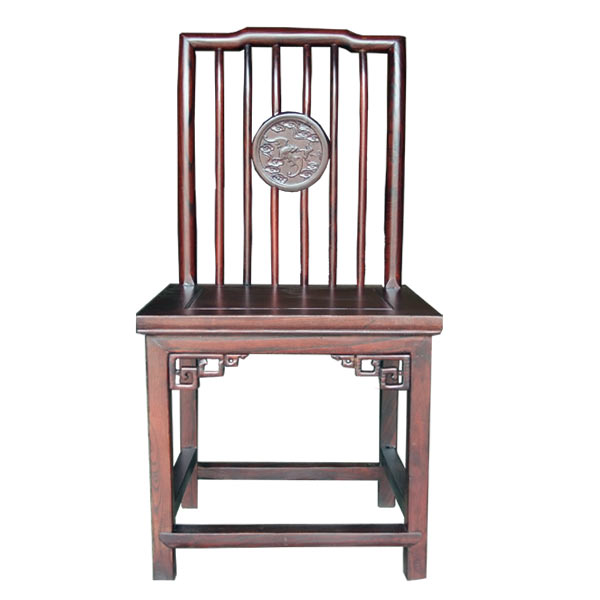 เก้าอี้ไม้พนักพิงโปร่งแกะลายจีน