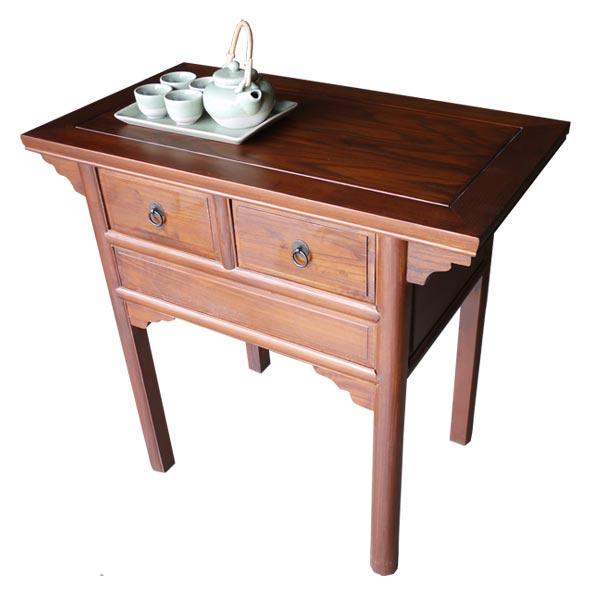 โต๊ะไหว้เจ้าไม้แบบเรียบมีลิ้นชักสไตล์จีน 87 ซม.