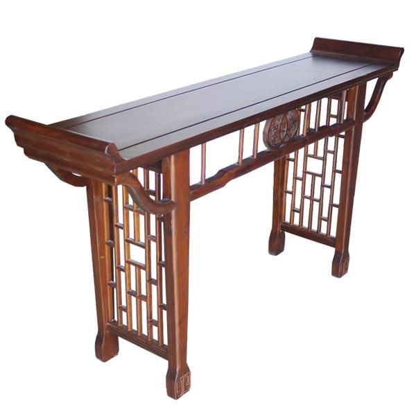 โต๊ะไหว้ไม้ปลายงอนสไตล์จีนโบราณ 160 ซม.