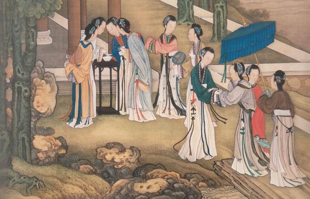 ภาพวาดสาวจีนโบราณในเทศกาลชีซีเจี๋ย-ทานาบาตะ