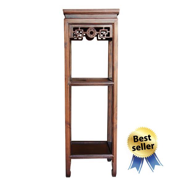 โต๊ะวางแจกันไม้ทรงสี่เหลี่ยมจัตุรัสสูง 90 ซม.
