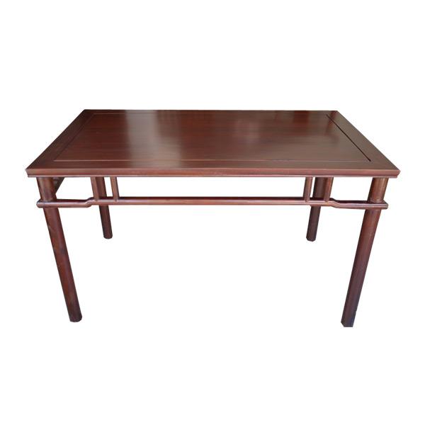 โต๊ะไม้แต่งลายโปร่งด้านข้างสไตล์จีน 128 ซม.