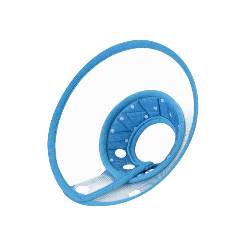 คอลล่า ปลอกคอกันเลีย (สีฟ้า) คอลล่ากันเลียแบบผ้า