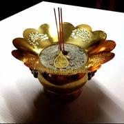 จานรอง กระถางธูป (ทองเหลือง)