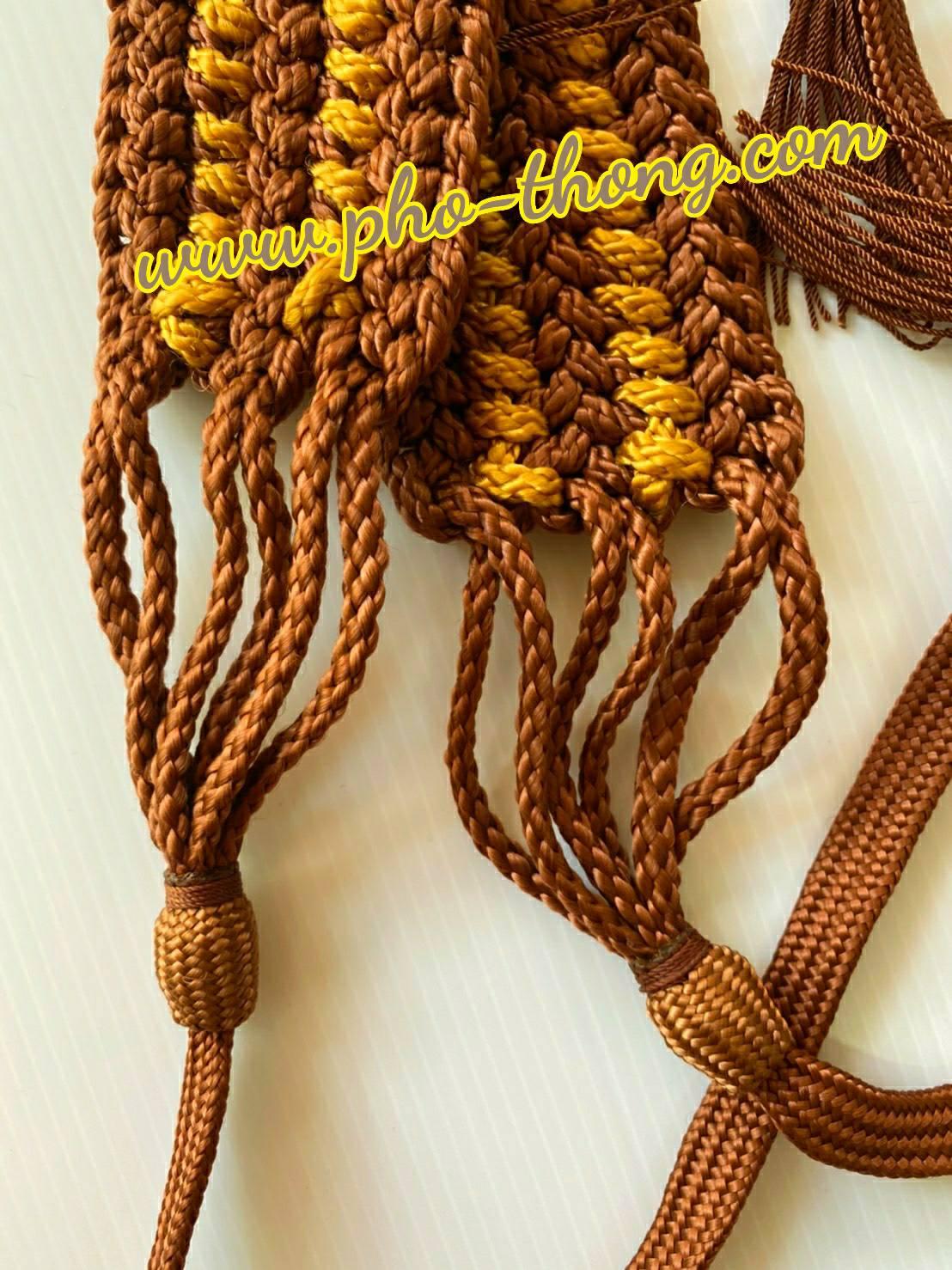 รัตประคด ถักเชือกเปีย-ลายพญานาคราช  (งานถักมือ)