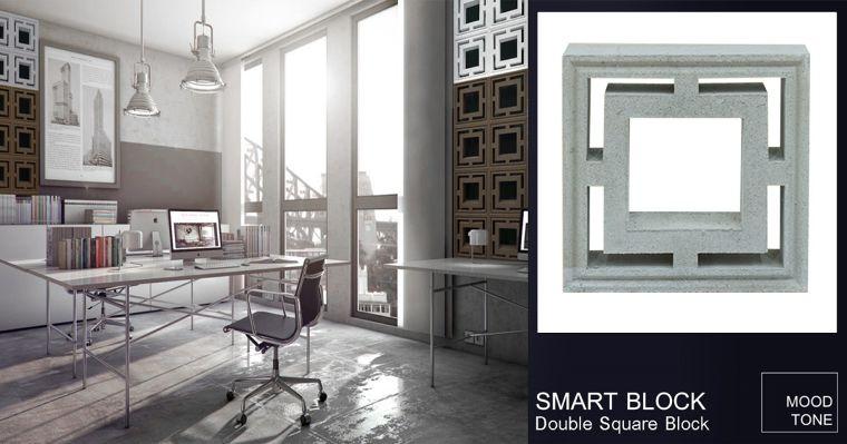 สร้างสรรค์ Pattern ที่มีเอกลักษณ์ให้กับงานตกแต่งผนัง ด้วยบล็อค Double Square & Smart Miti Block ในรูปแบบ LEGO System
