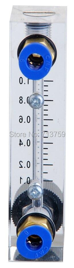 LZM-4T Acrylic Flow Meter Insertion Type Air Float Flowmeter Gas Rotameter