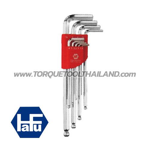 HAFU ชุดประแจแอลหกเหลี่ยมหัวบอลยาว 451-390-02
