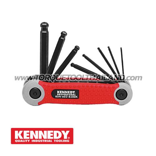 ชุดประแจหกเหลี่ยมหัวบอล KEN-602-8280K