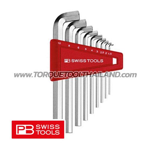 ชุดประแจหกเหลี่ยมสั้น คอสั้น PB2210H