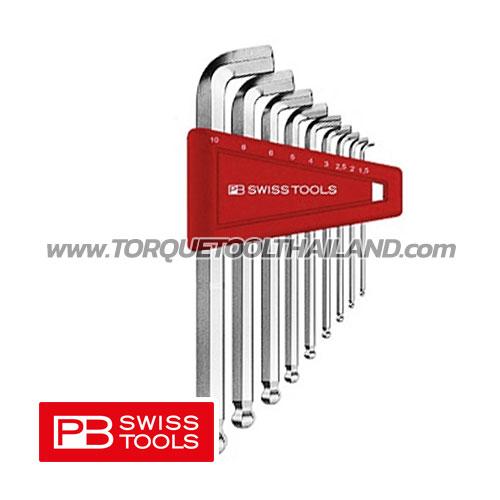 ชุดประแจหกเหลี่ยมสั้นหัวบอล คอสั้น PB2212H