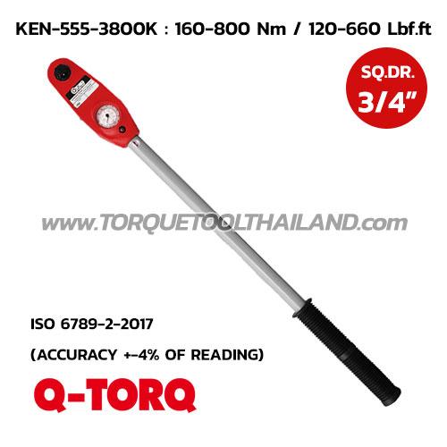 ประแจวัดแรงบิด SQ.DR.3/4 นิ้ว KEN-555-3800K