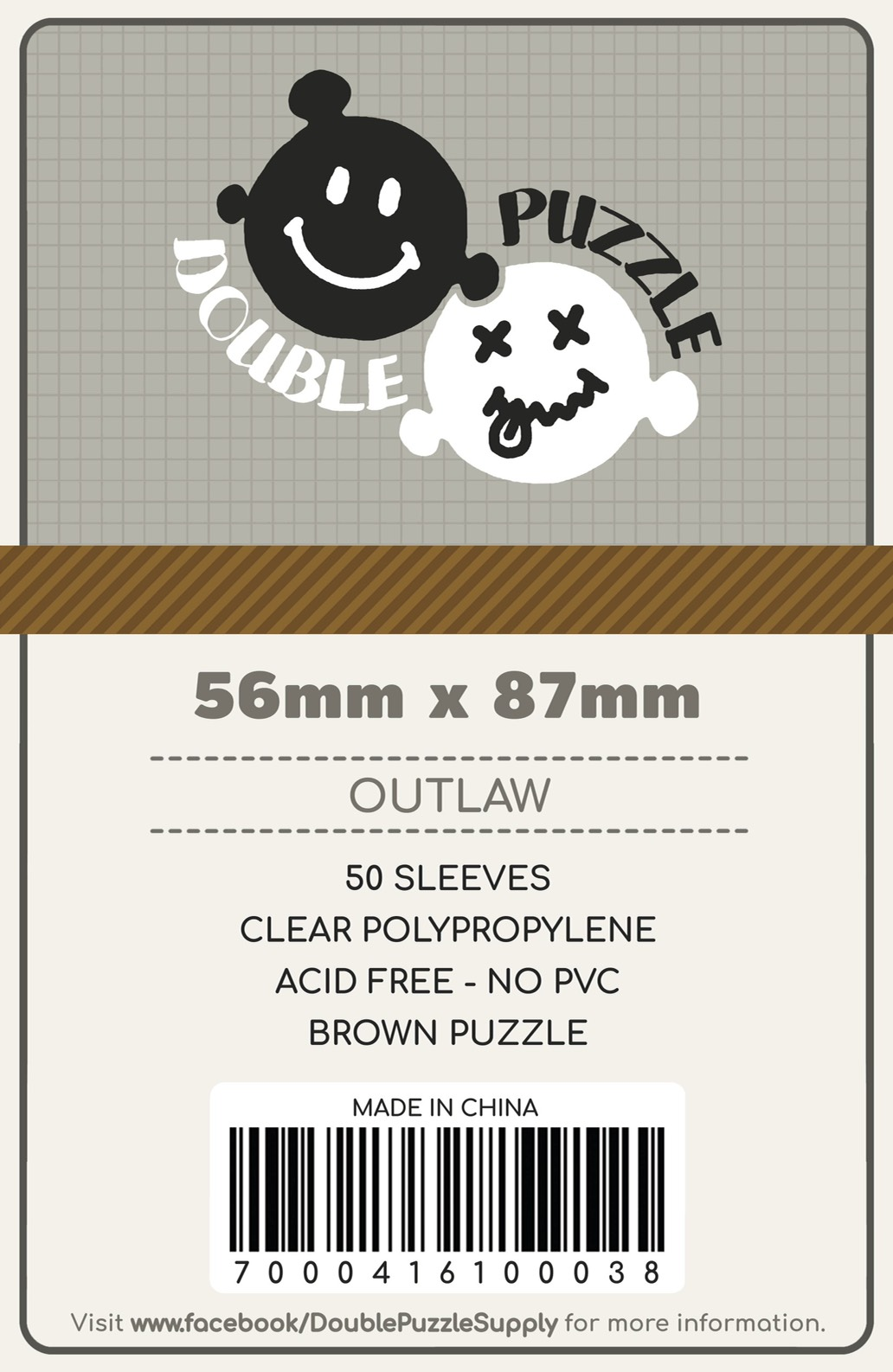 Sleeves 56*87 Brown Outlaw Double Puzzle