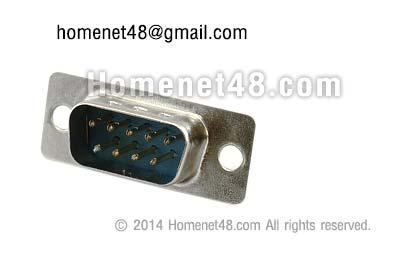 หัว Serial (RS232) 9 Pins ตัวผู้ (M) แบบประกอบเอง (เฉพาะหัว)