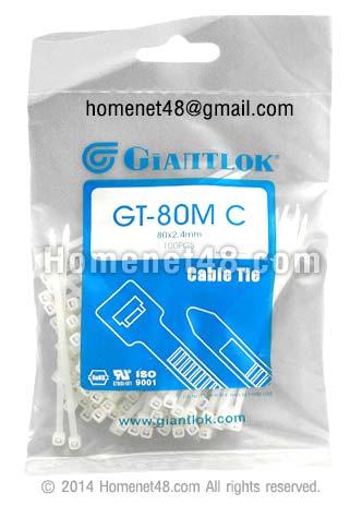 สายรัด (Cable Ties) เกรด A GIANTLOK 3 นิ้ว (100/Pack)
