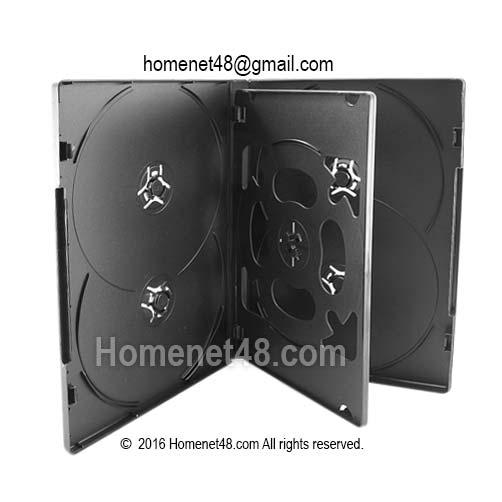 กล่อง DVD 6 แผ่น (สีดำ) ขนาด 13.5 x 19 ซม.