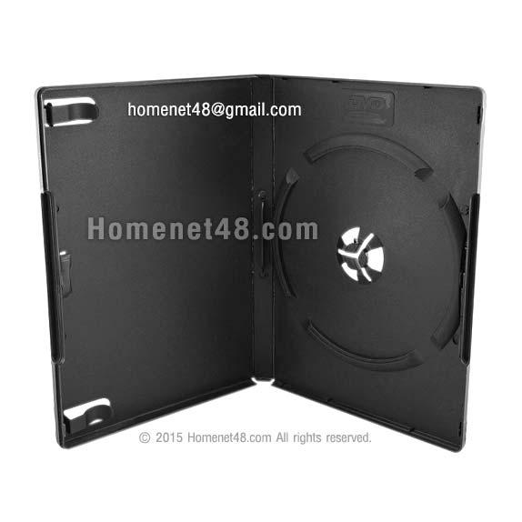 กล่อง DVD 1 หน้า (สีดำ) ขนาด 13.5 x 19 ซม. (หนา)