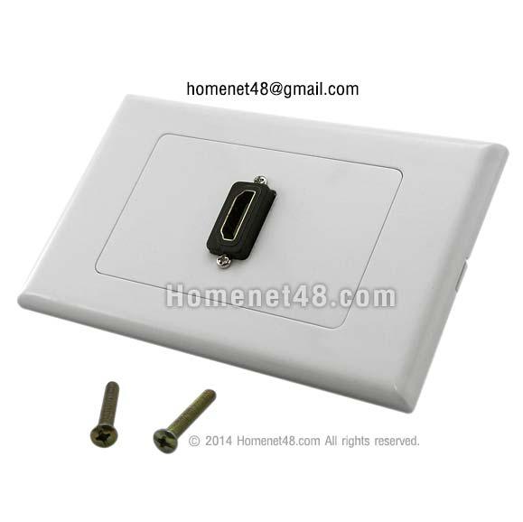 หน้ากากเต้ารับสาย HDMI ตัวเมีย (F>F) 1 ช่อง (สี่เหลี่ยมผืนผ้า) (หัวฉาก)