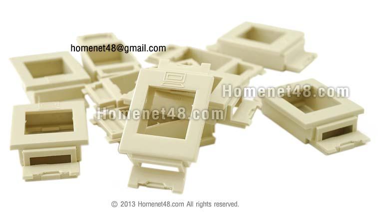 ตัวแปลง RJ45 (Link) ตัวเมีย มาใส่หน้ากาก Panasonic (รุ่นเก่า) (10/Pack)